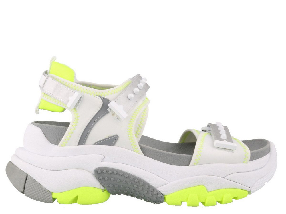 Ash Adapt Sandals in white / yellow