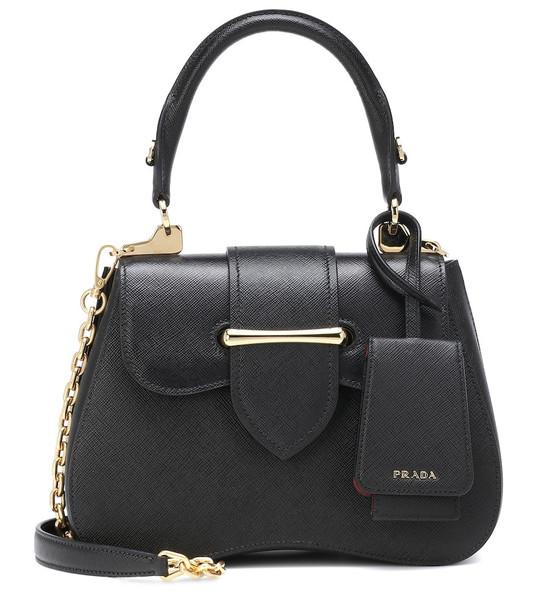 Prada Sidonie Small leather shoulder bag in black