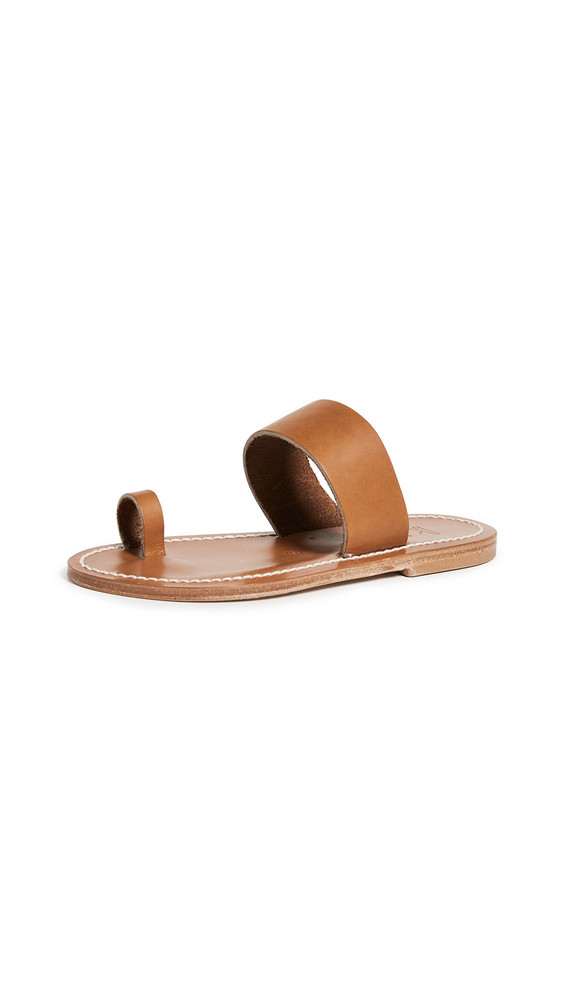 K. Jacques Nagoya Toe Ring Slide Sandals in natural