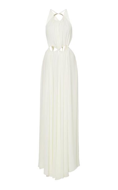 Cult Gaia Aphrodite Halter Maxi Dress in white