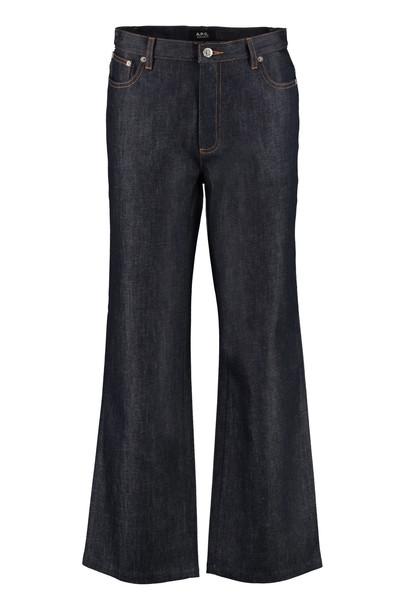 A.P.C. A.P.C. Cozzi Straight Leg Jeans in denim / denim