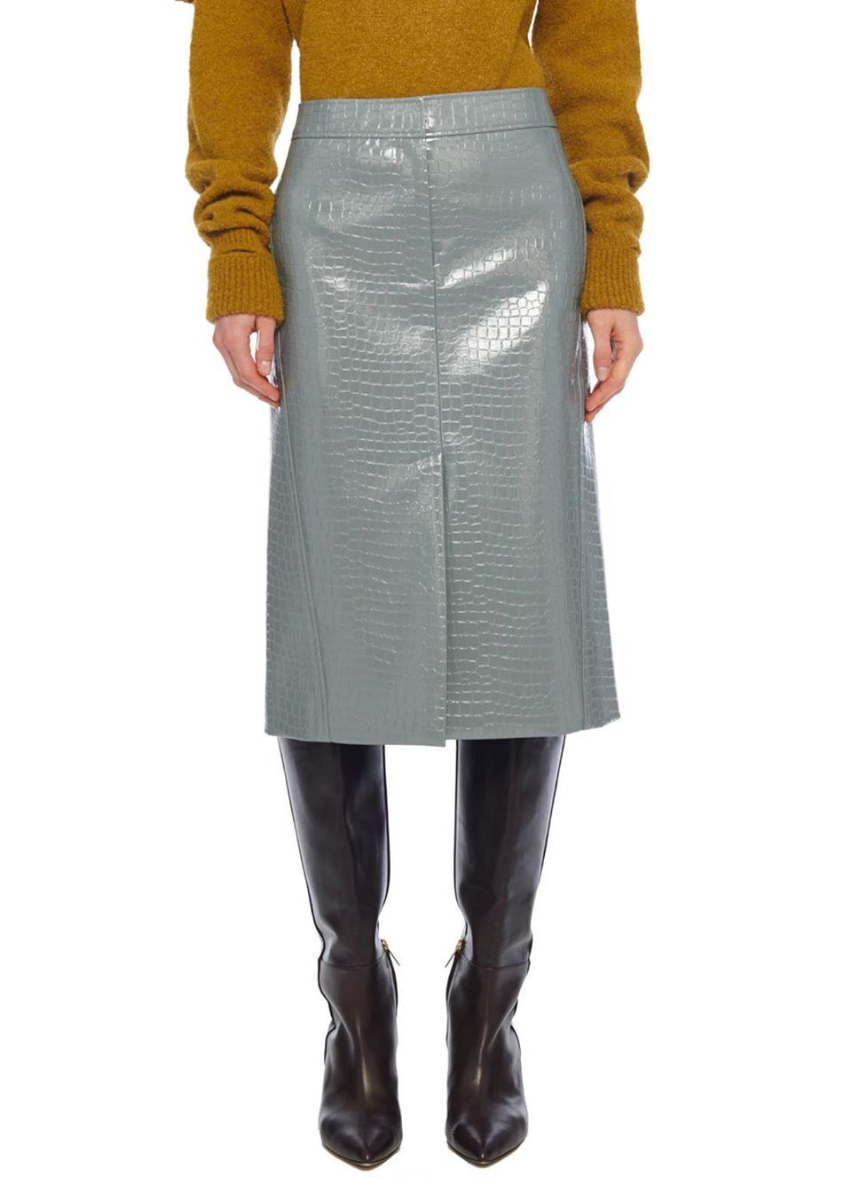 Tibi Croc Embossed Patent Trouser Skirt