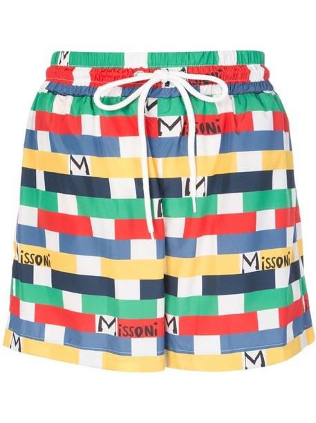 M Missoni geometric logo print shorts