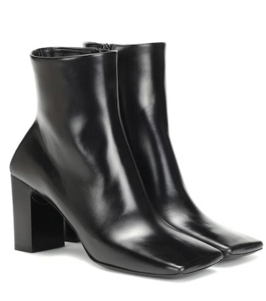 Balenciaga Double Square leather ankle boots in black