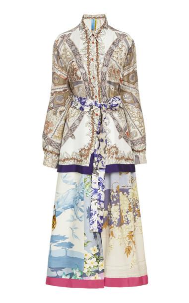 Rianna + Nina Rianna + Nina Exclusive Printed Silk-Satin Shirt Dress in multi