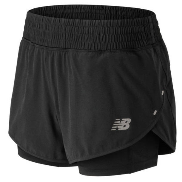 New Balance 81263 Women's 4 Inch Impact Short - Black (WS81263BK)