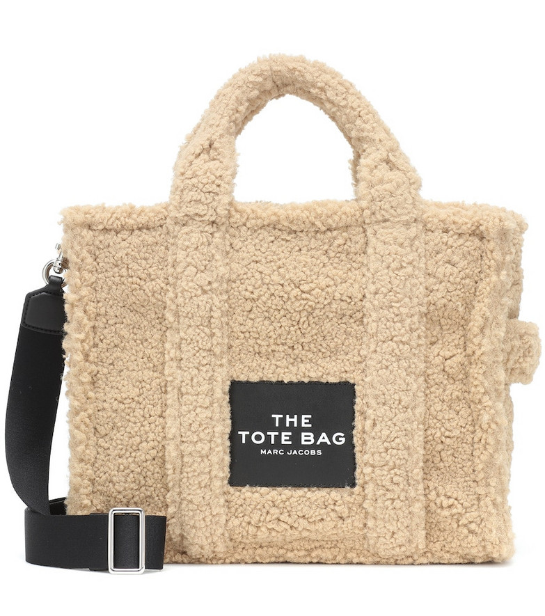 Marc Jacobs Faux shearling tote in beige