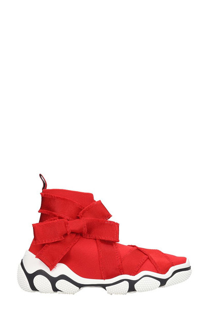 RED Valentino Sneakers In Red Canvas