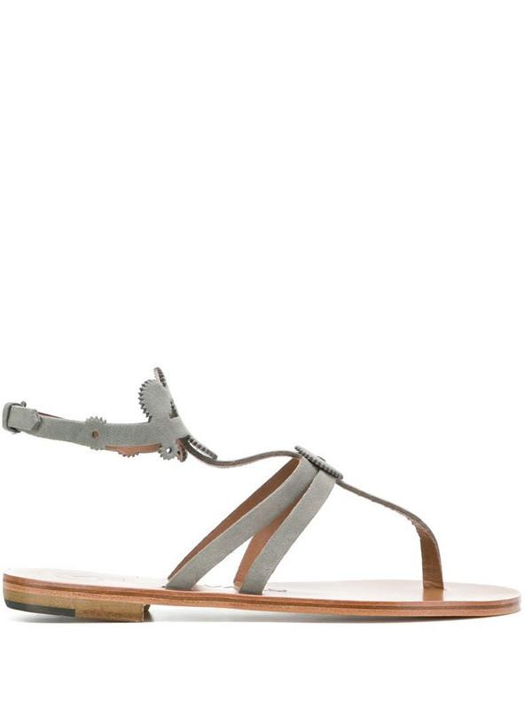 Álvaro cog-detail thong sandals in grey