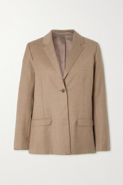 Totême - Wool-blend Flannel Blazer - Beige