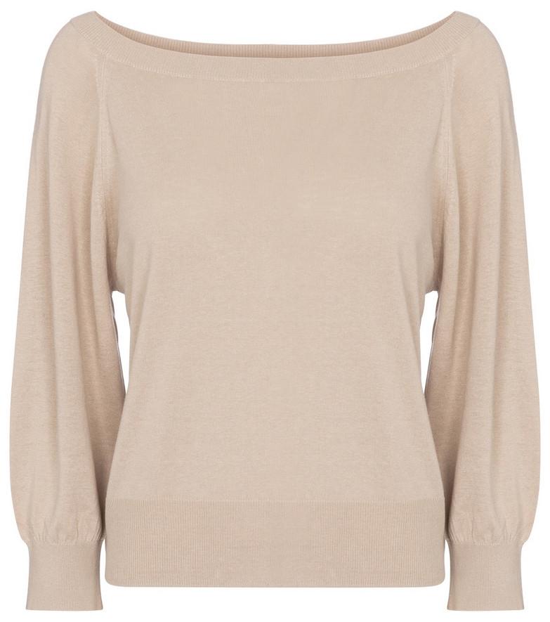 Max Mara Harold silk and linen sweater in beige