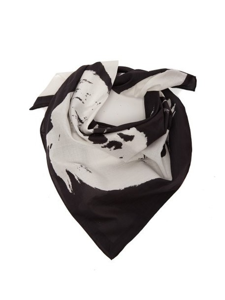 Calvin Klein 205w39nyc - Stephen Sprouse Print Cotton Bandana Scarf - Womens - White