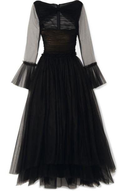 Khaite - Jean Cutout Tulle Maxi Dress - Black