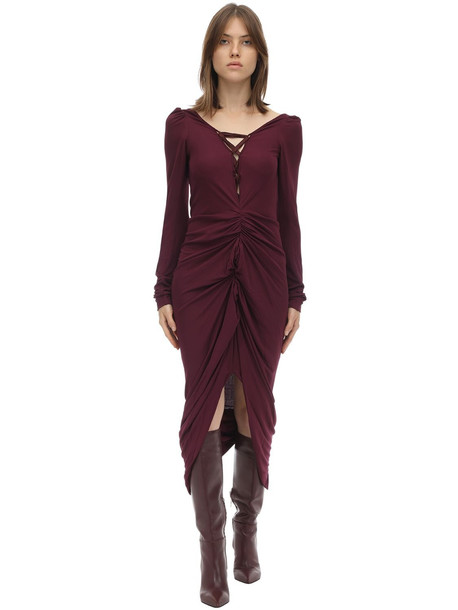 ANDREAS KRONTHALER Draped Viscose Jersey Dress