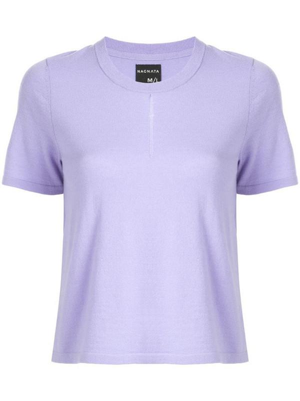 Nagnata front slit T-shirt in purple