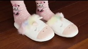 socks,pink,disney,minnie mouse,polka dots,cute