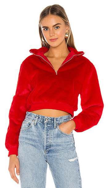 superdown Faith Cropped Jacket in Red