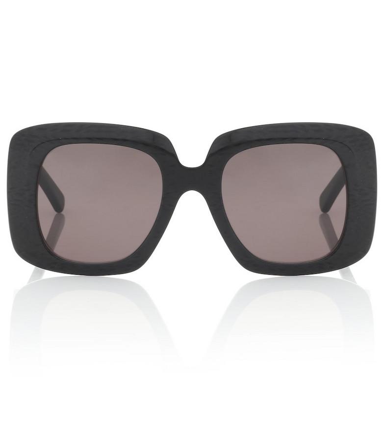 Balenciaga Oversized acetate sunglasses in black