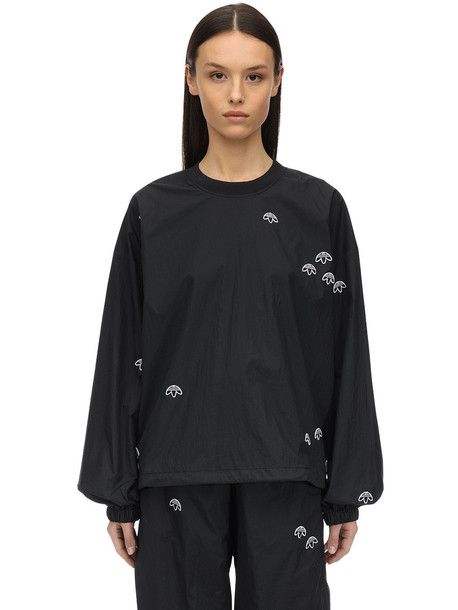 ADIDAS ORIGINALS BY ALEXANDER WANG Aw Nylon Sweatshirt in black