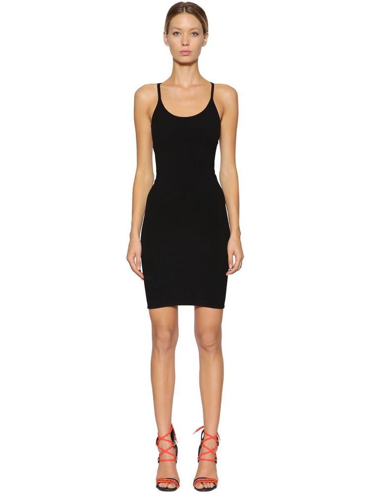 DSQUARED2 Technical Knit Mini Dress in black