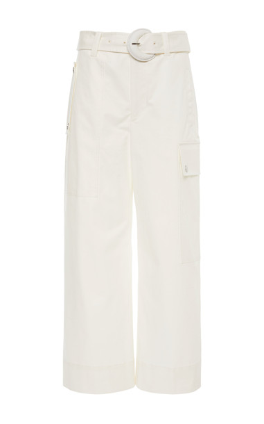 Proenza Schouler PSWL Cotton Belted Cargo Pant Size: 0 in white