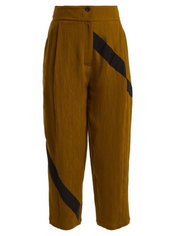 Palmer/harding Palmer//harding - Static High Rise Wide Leg Trousers - Womens - Mid Khaki