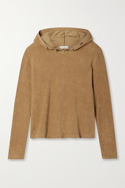 SUZIE KONDI - Organic Cotton-terry Hoodie - Brown