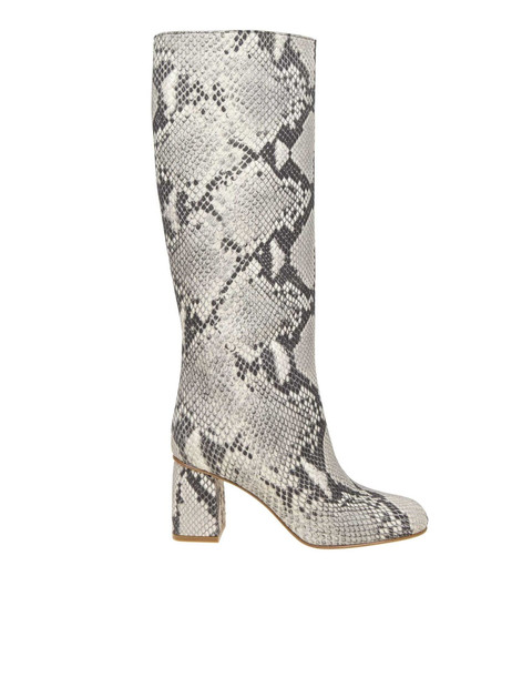 Red Valentino Leather Boots With Pythoned Print