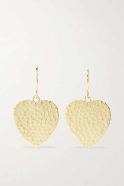 Jennifer Meyer - Hammered 18-karat Gold Earrings