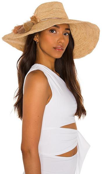florabella Nicolette Hat in Neutral in natural / gold