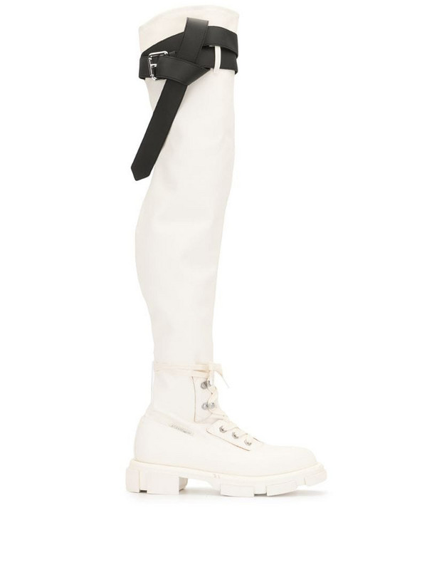 Monse x Both Gao thigh-high boots in white