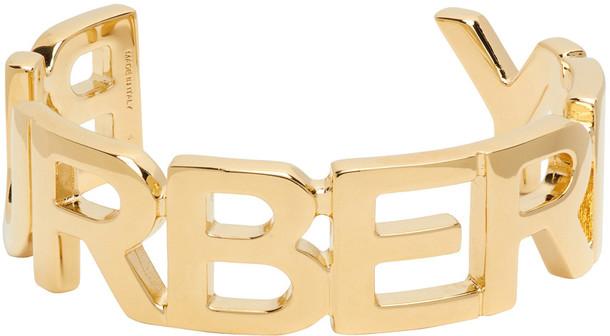 Burberry Gold Logo Cuff Bracelet
