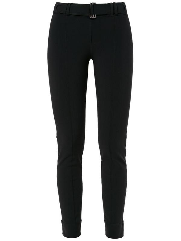 Gloria Coelho belted leggings in black