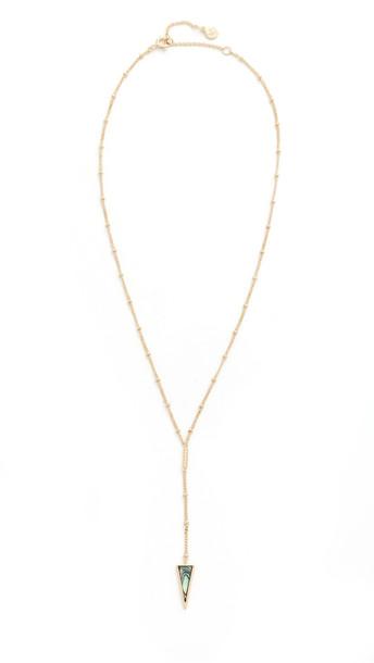 Gorjana Corina Lariat Necklace in gold / yellow