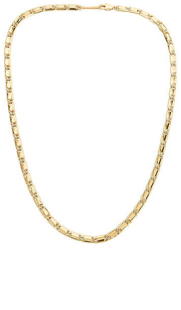 Jenny Bird Box Chain Necklace in Metallic Gold
