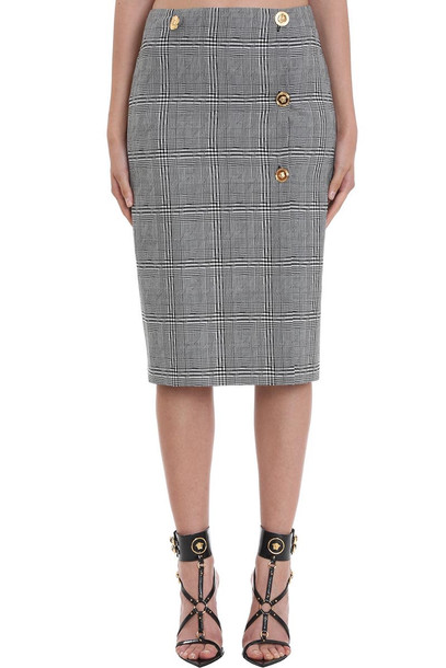 Versace Skirt In Grey Wool