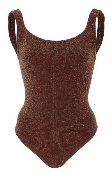 Hunza G Lurex Swimsuit in metallic