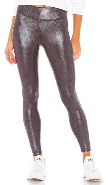 KORAL Drive High Rise Foil Rib Legging in Purple