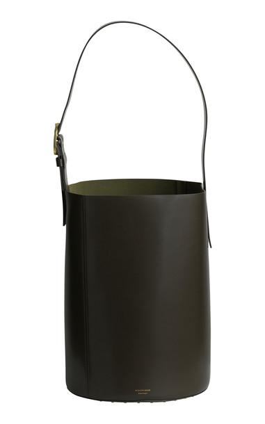 By Malene Birger Lee Leather Bucket Bag in neutral