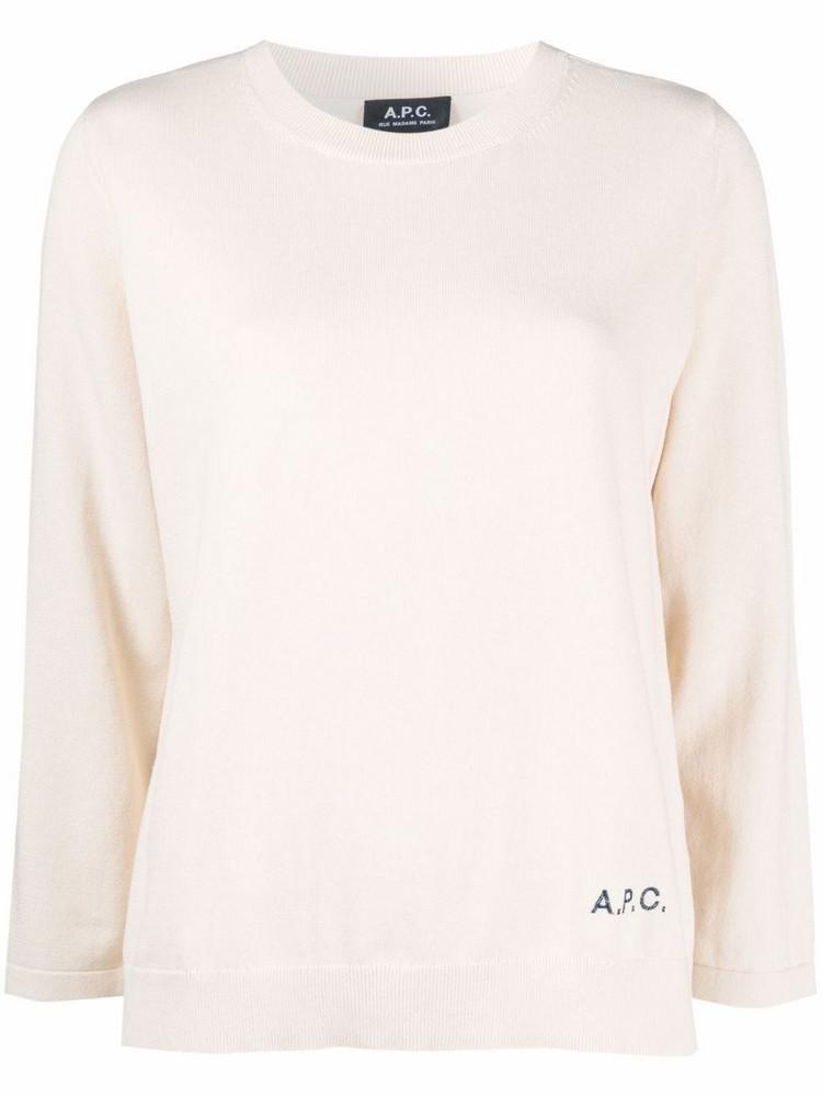 A.P.C. A.P.C. logo embroidered jumper - Neutrals