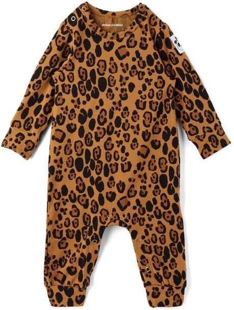 Mini Rodini Baby Leopard Basic Jumpsuit in beige