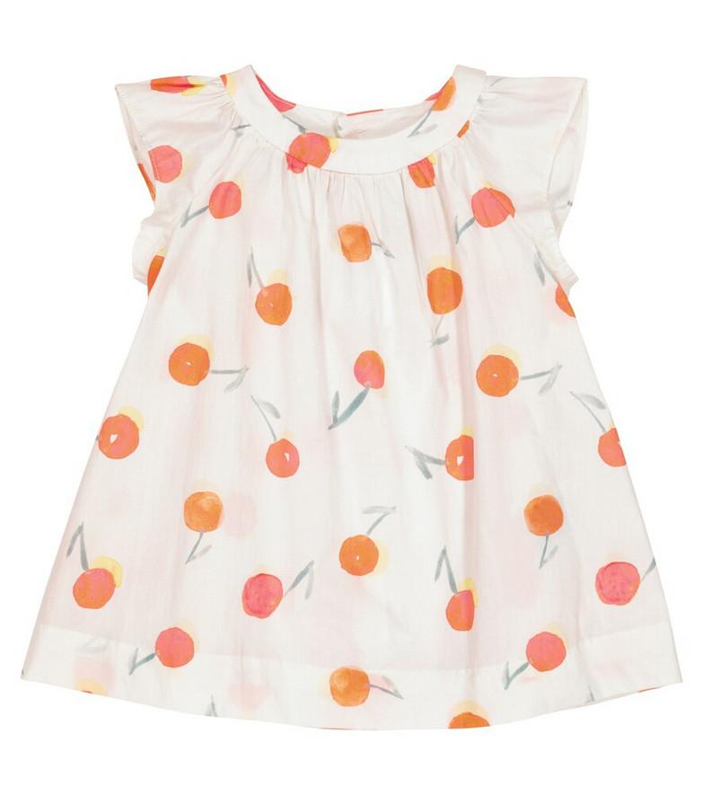 Bonpoint Baby Lelia printed cotton dress in white