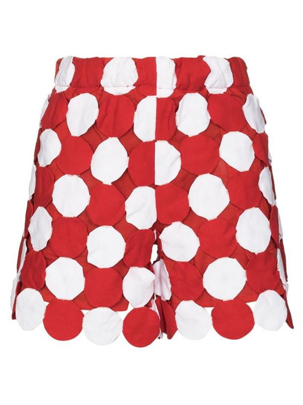 BODE Yo-yo coverlet cotton shorts in red