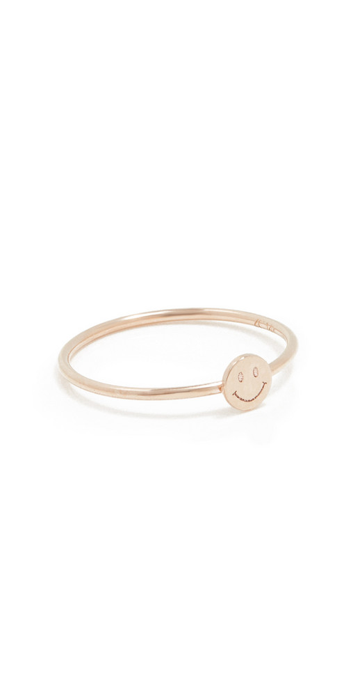 Zoe Chicco Itty Bitty Symbols Ring in gold