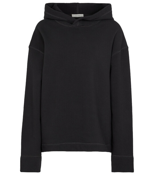 The Row Deugene oversized cotton hoodie in black