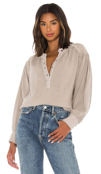 Free People Beach Day Pullover in Grey