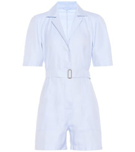 Giuliva Heritage Collection The Sienna cotton jumpsuit in blue