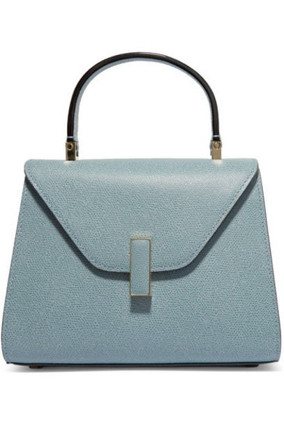 Valextra - Iside Mini Textured-leather Tote - Blue
