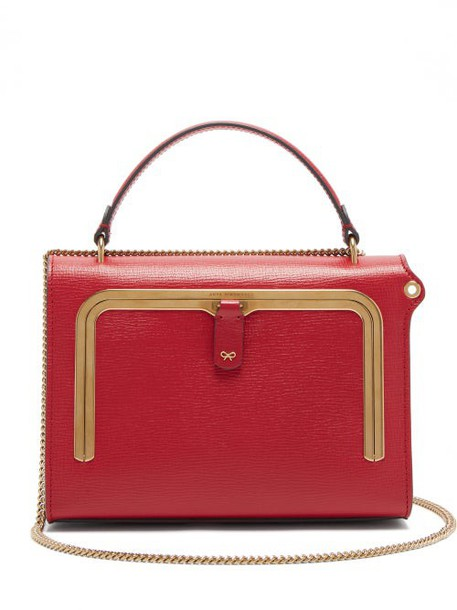Anya Hindmarch - Postbox Small Grained Leather Cross Body Bag - Womens - Red