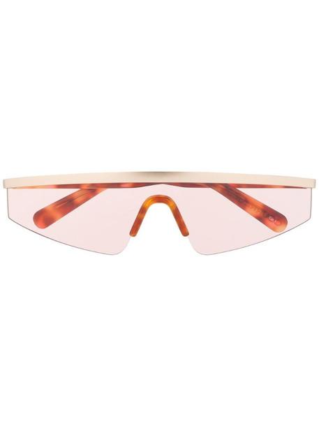 Courrèges Eyewear Punk single-lens sunglasses in brown